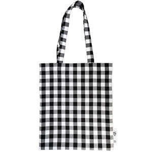 GINGHAM CHECK ECO-BAG | BK