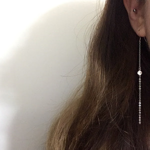 LONG CUBIC EARRING