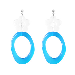 ICE FLOWER NEON EARRING | BL