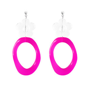 ICE FLOWER NEON EARRING | PK