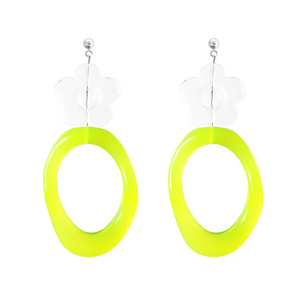ICE FLOWER NEON EARRING | YL
