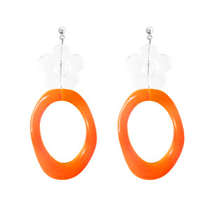 ICE FLOWER NEON EARRING | ORG