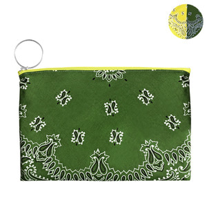 HALF and HALF BANDANA POUCH | YK