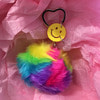 RAINBOW FUR KEY RING
