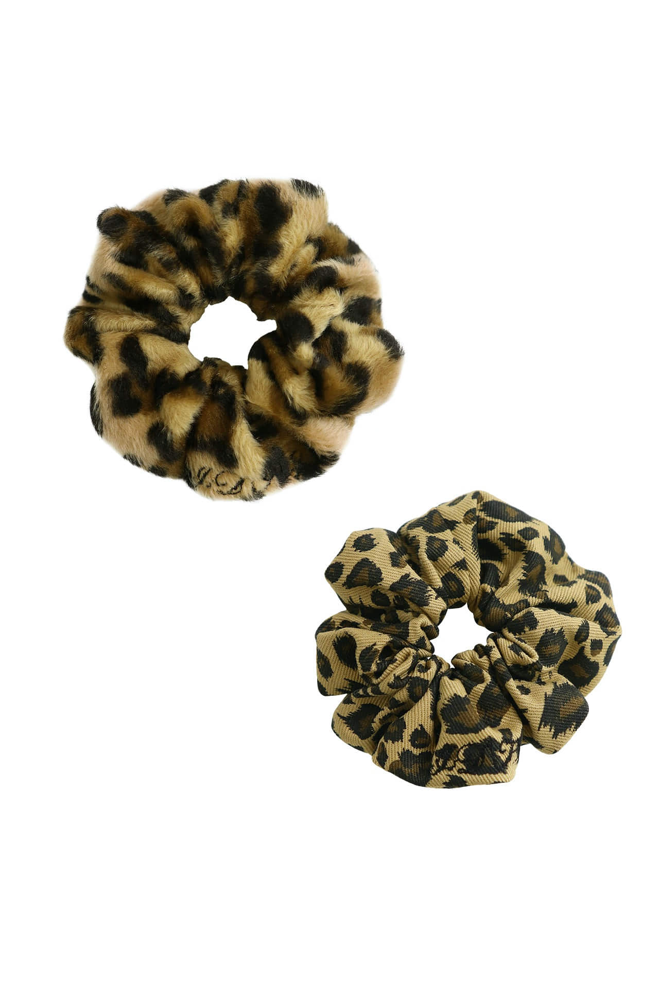 leopard Set Hair Scrunchie *upcycle