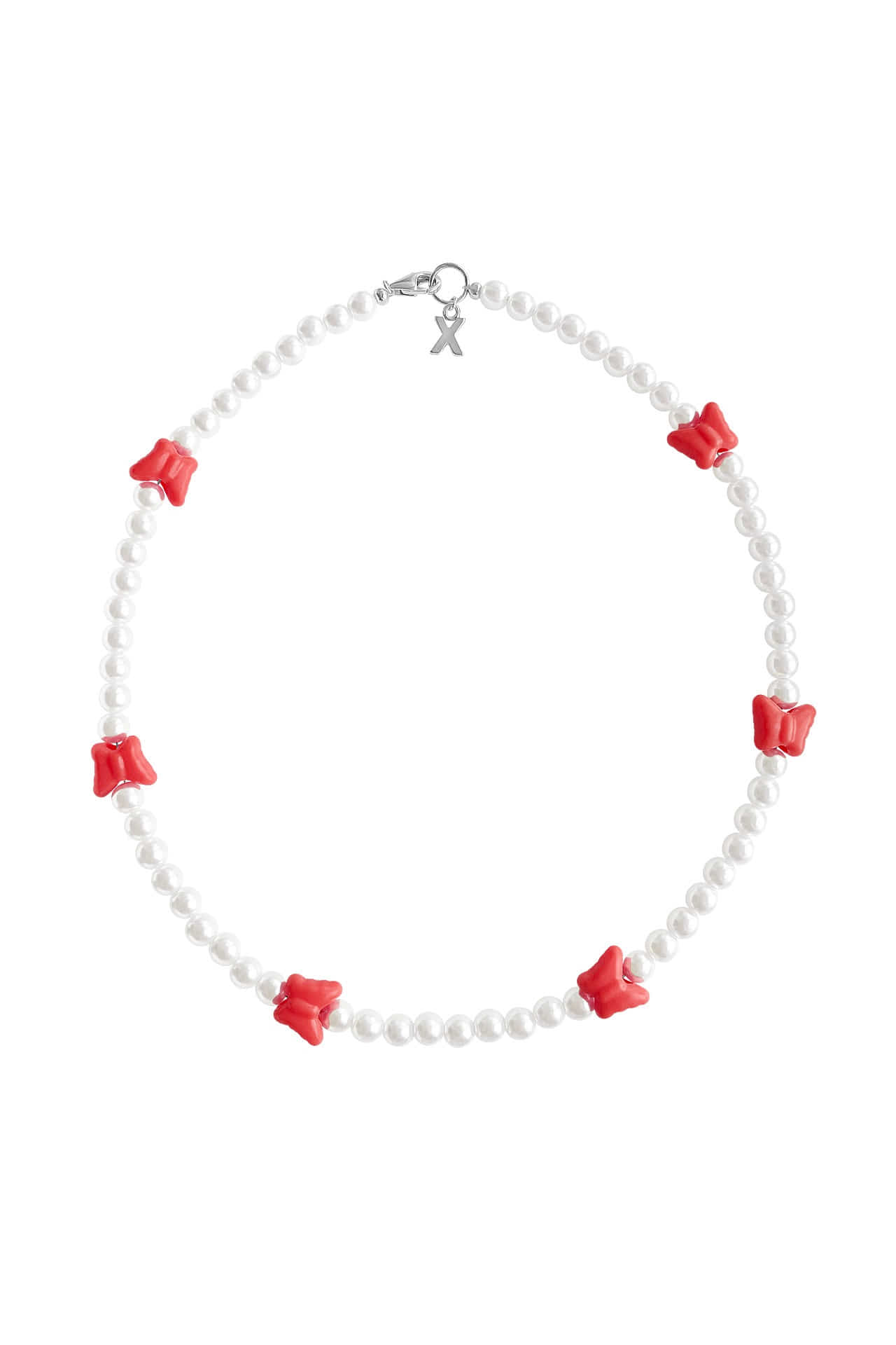 Butterfly Pearl Necklace | RED